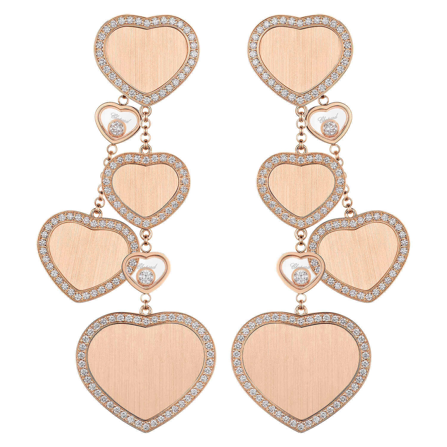 Chopard Limited Edition James Bond 007 Happy Hearts Diamond Earrings