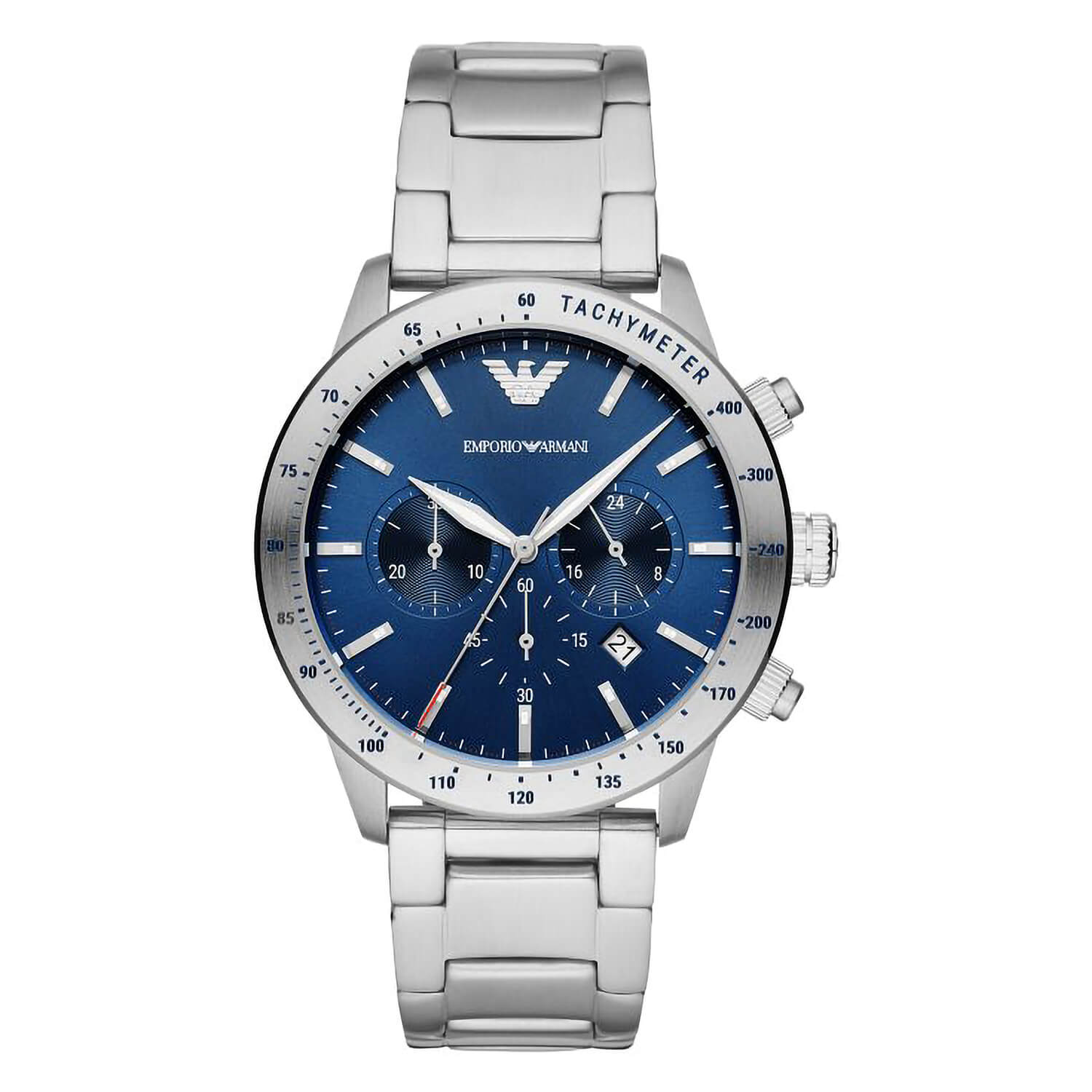 Emporio Armani Mario Mens Quartz Stainless Steel Case Watch