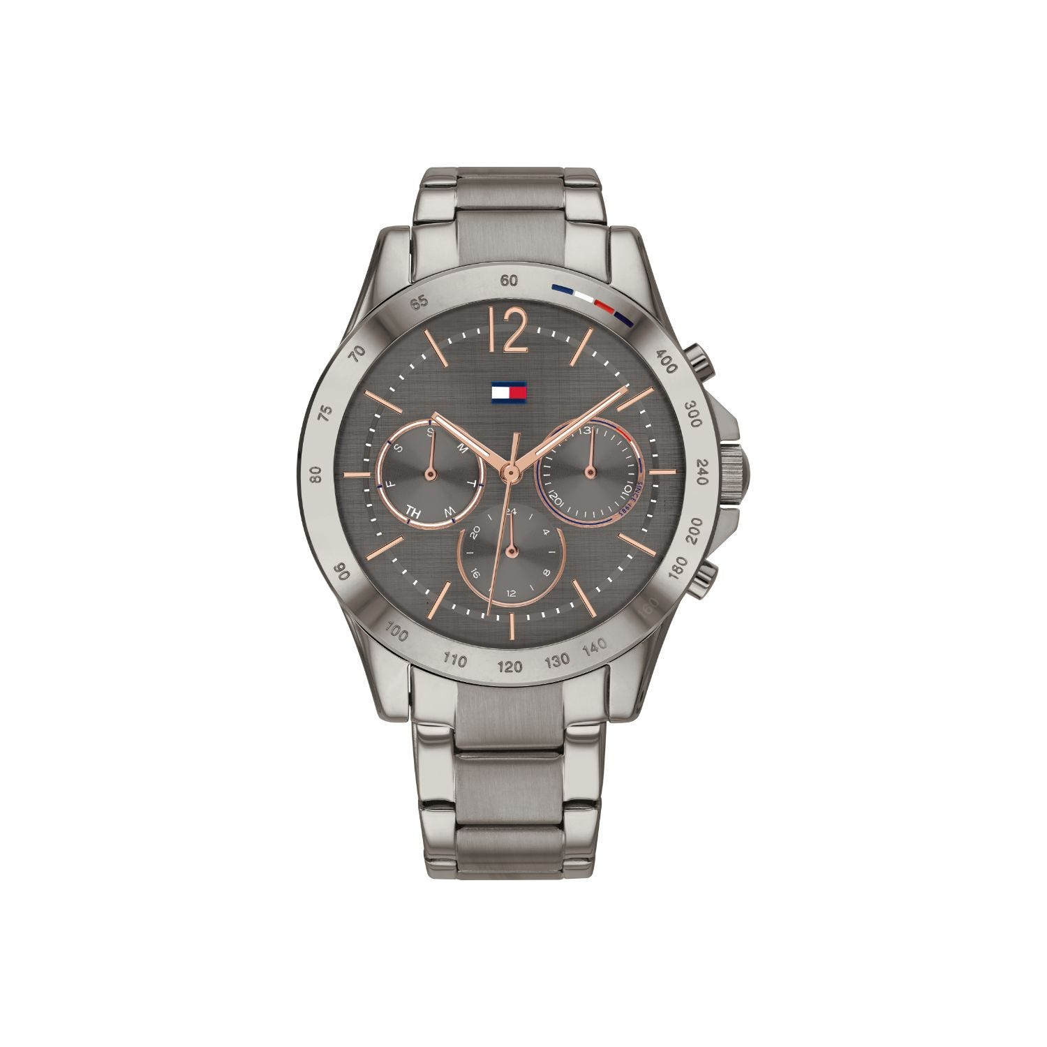 Tommy Hilfiger Haven Ladies Stainless Steel Strap Grey Dial Watch
