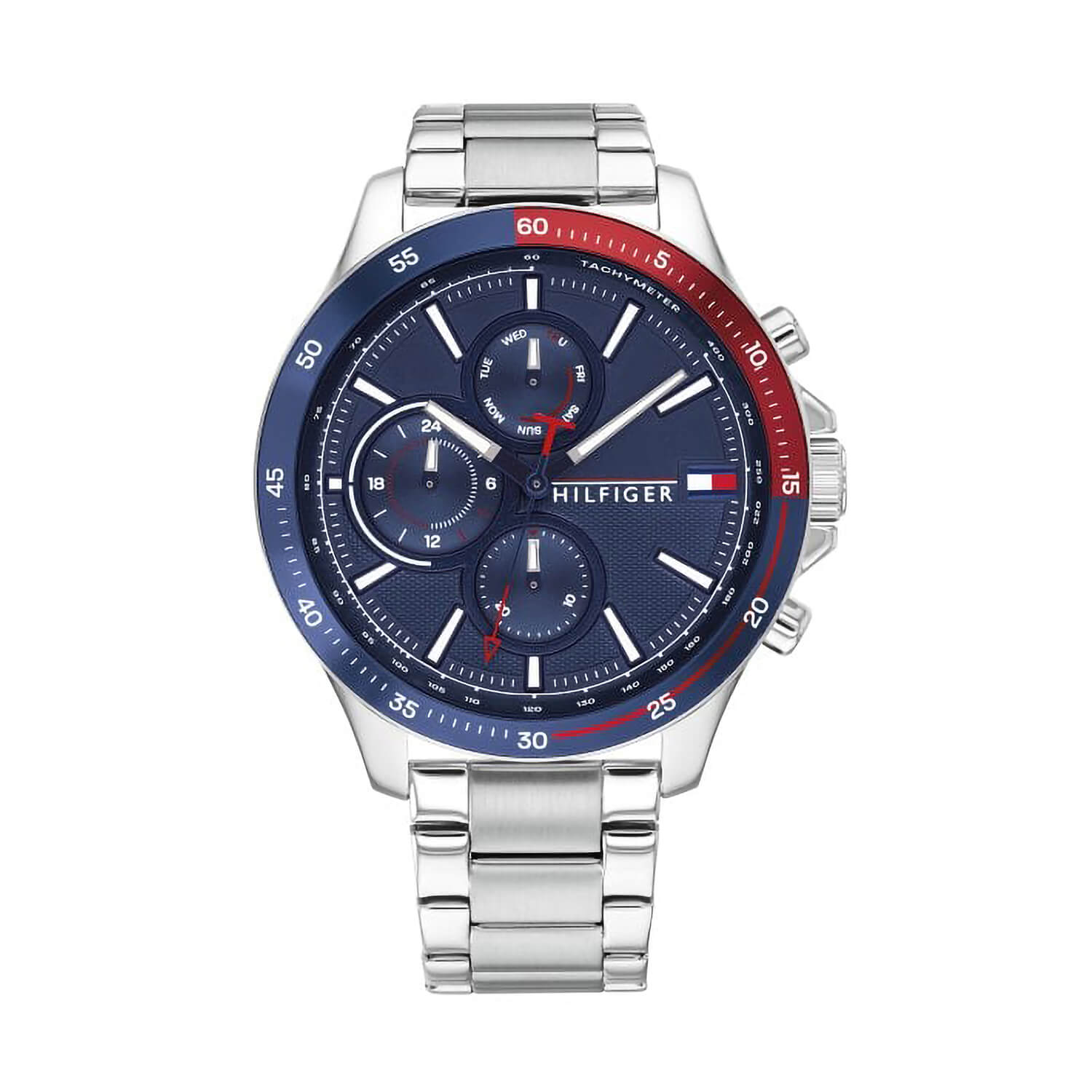 Tommy Hilfiger Bank Mens Stainless Steel Strap Blue Dial Watch
