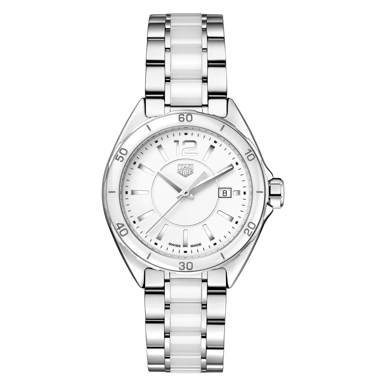 TAG Heuer Formula 1 Ladies Steel And White Ceramic Watch