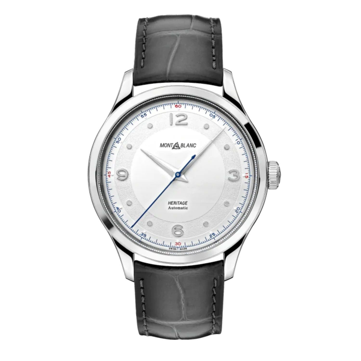 Montblanc Heritage Automatic Leather Strap Mens Watch