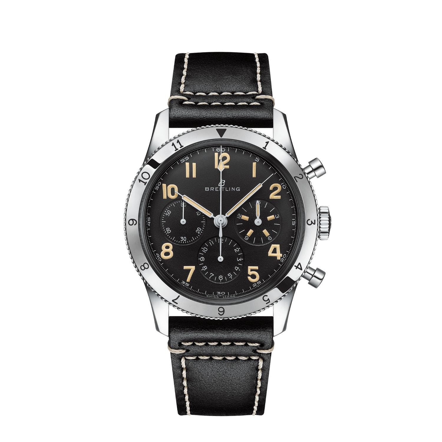Breitling Aviator 8 Ref. 765 1953 Re-Edition Leather Strap Watch