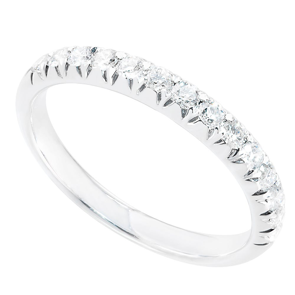 Platinum 0.30 carat diamond half eternity ring
