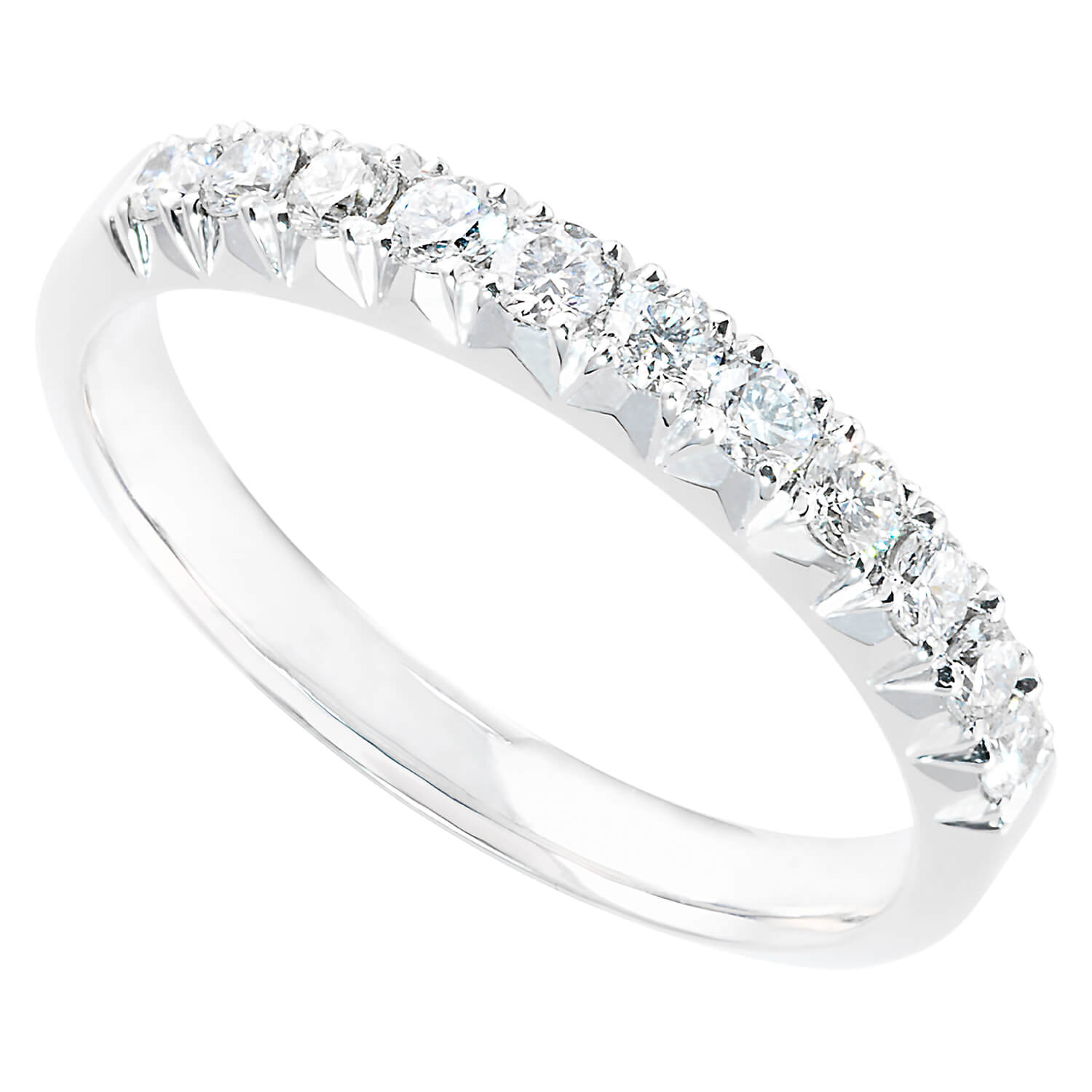 Platinum 0.36 carat diamond eternity ring