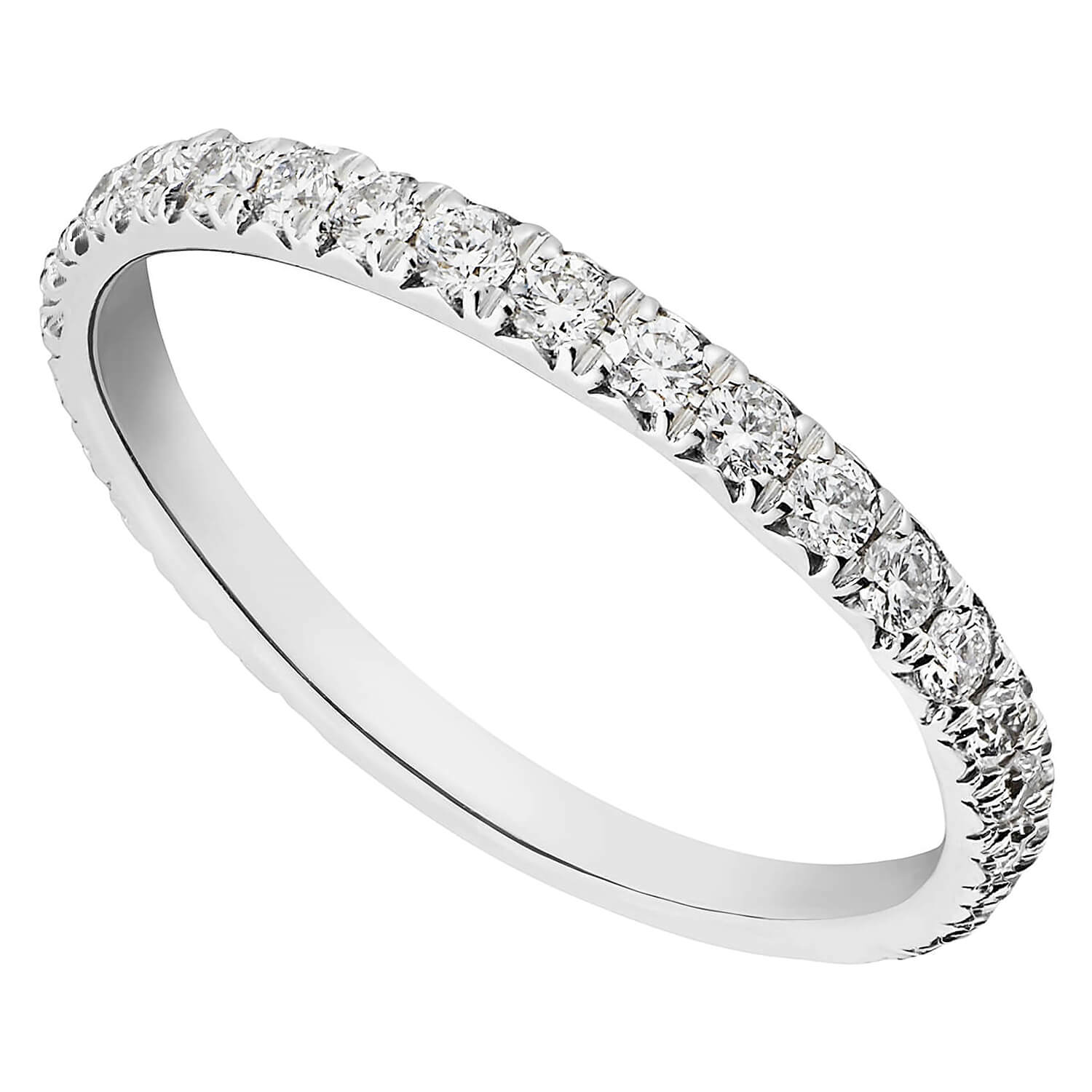 Platinum 0.50 carat diamond eternity ring