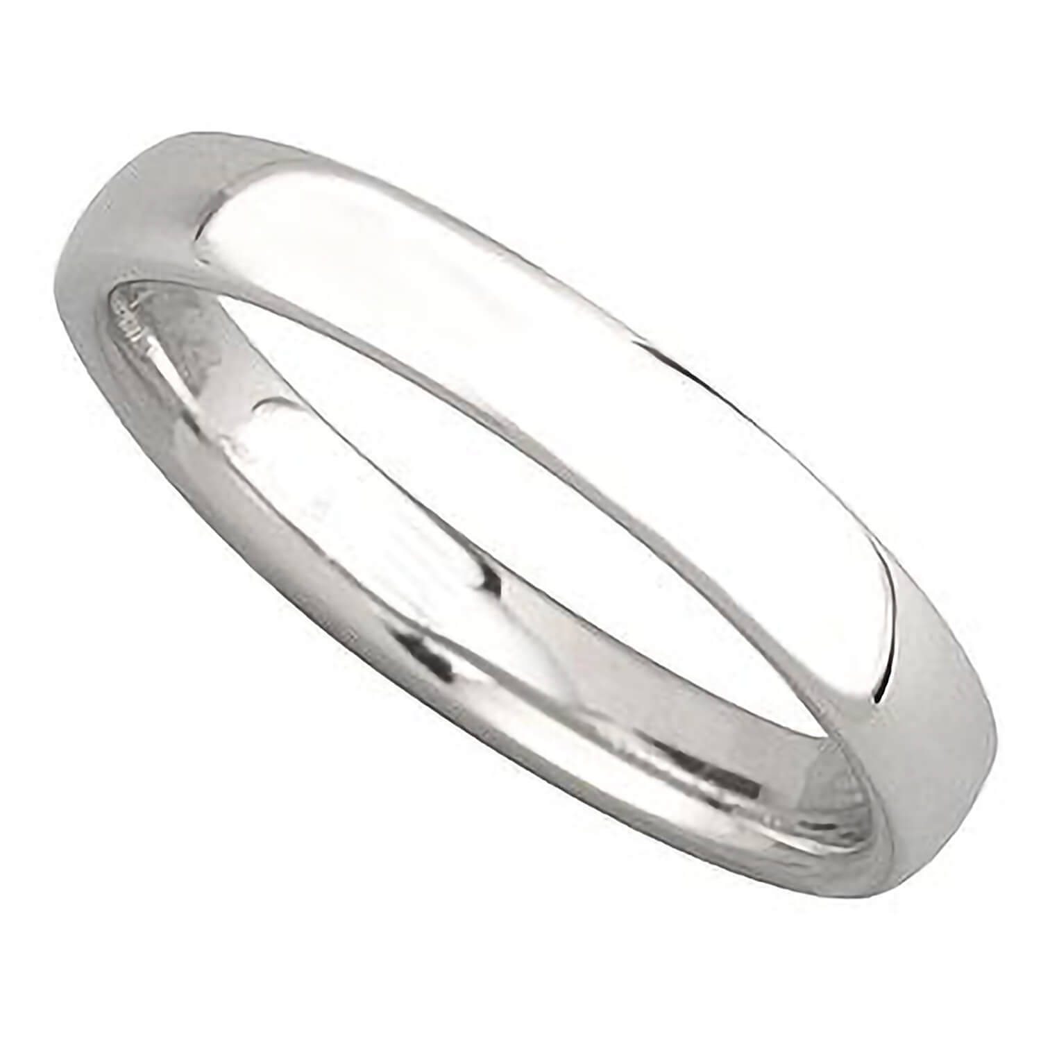 Ladies' platinum 3mm superior court wedding ring