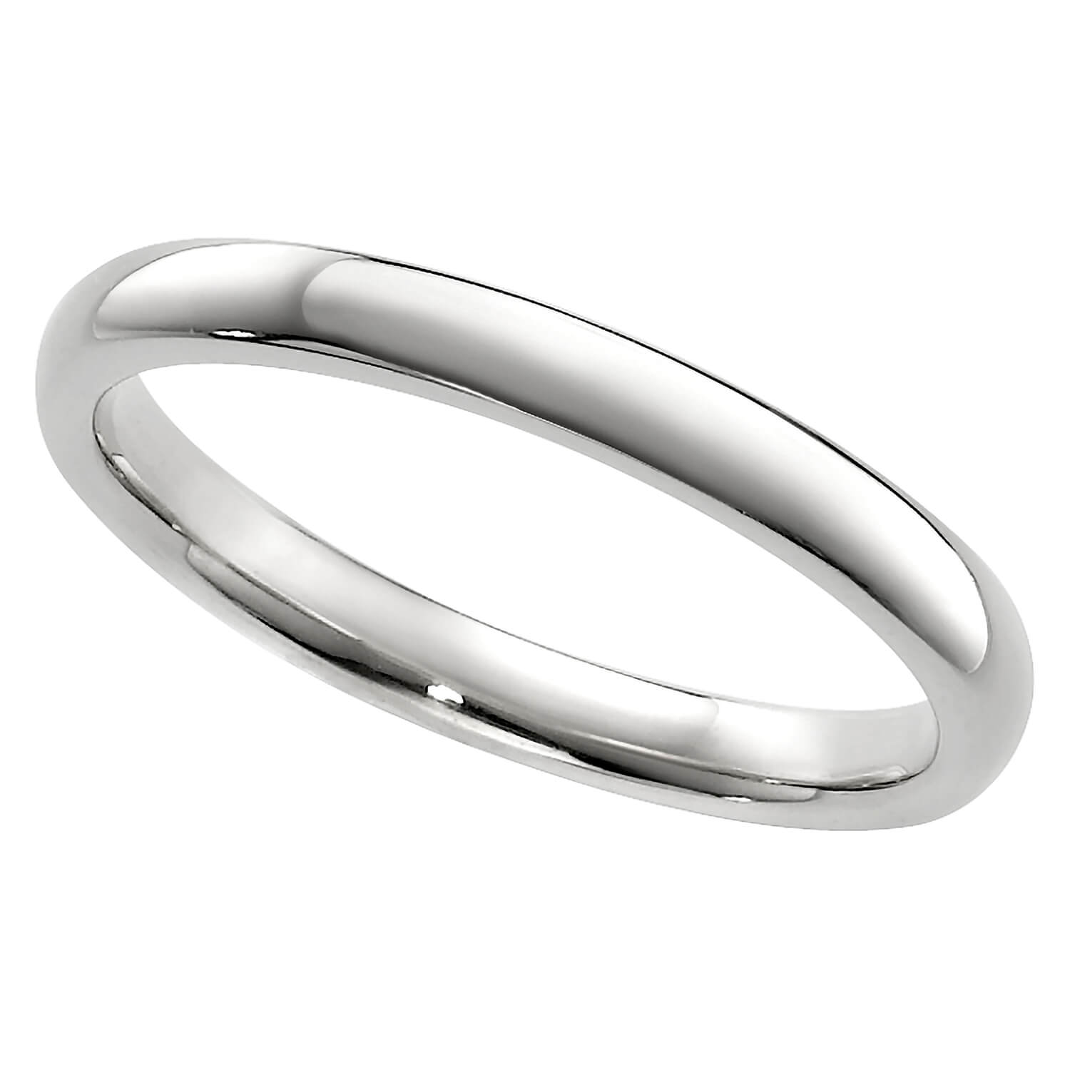 Ladies' 9ct white gold 2mm superior court wedding ring