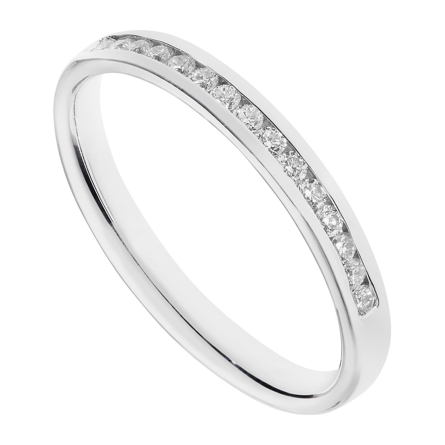 9ct white gold 0.15 carat round brilliant diamond ring