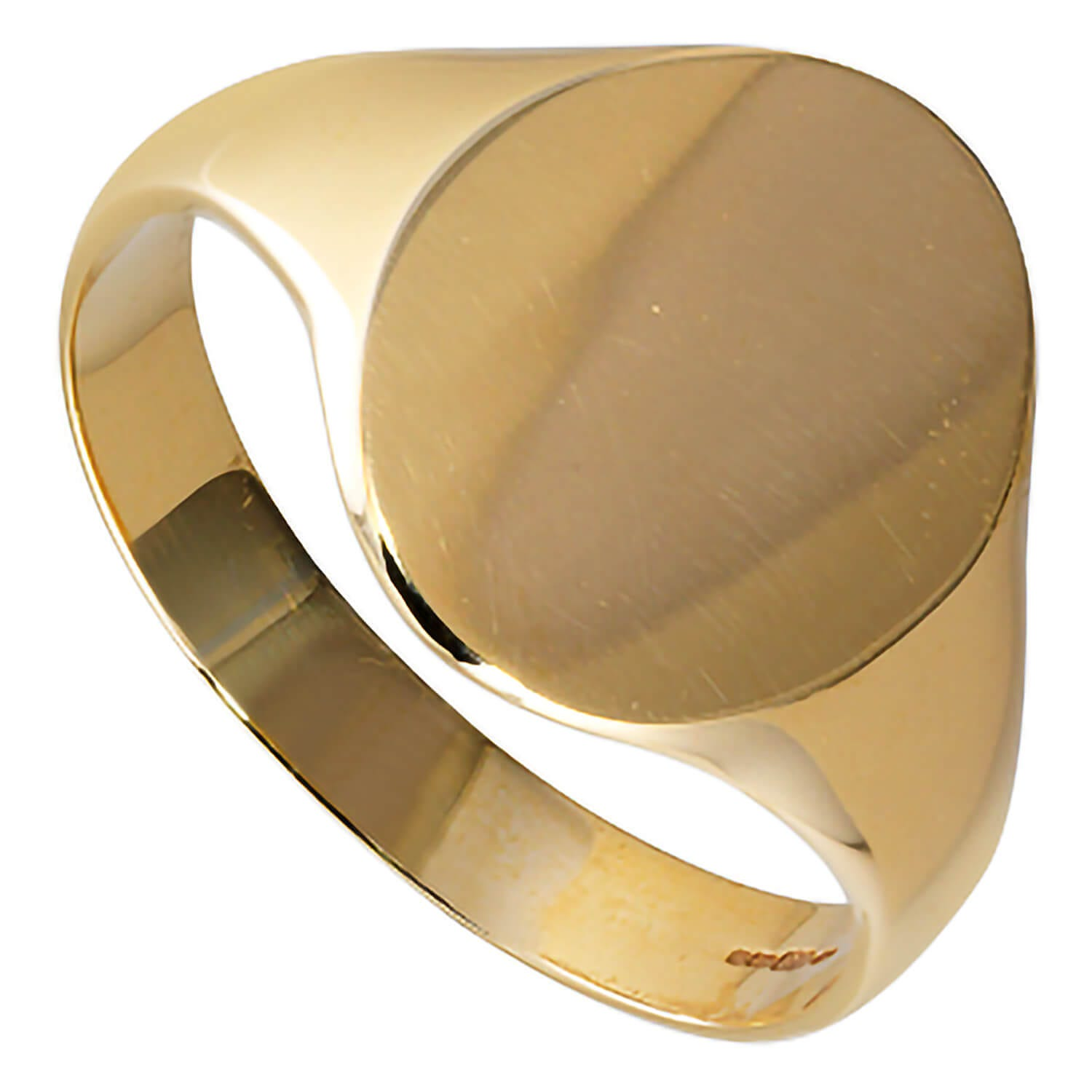 Men's 9ct gold oval signet ring