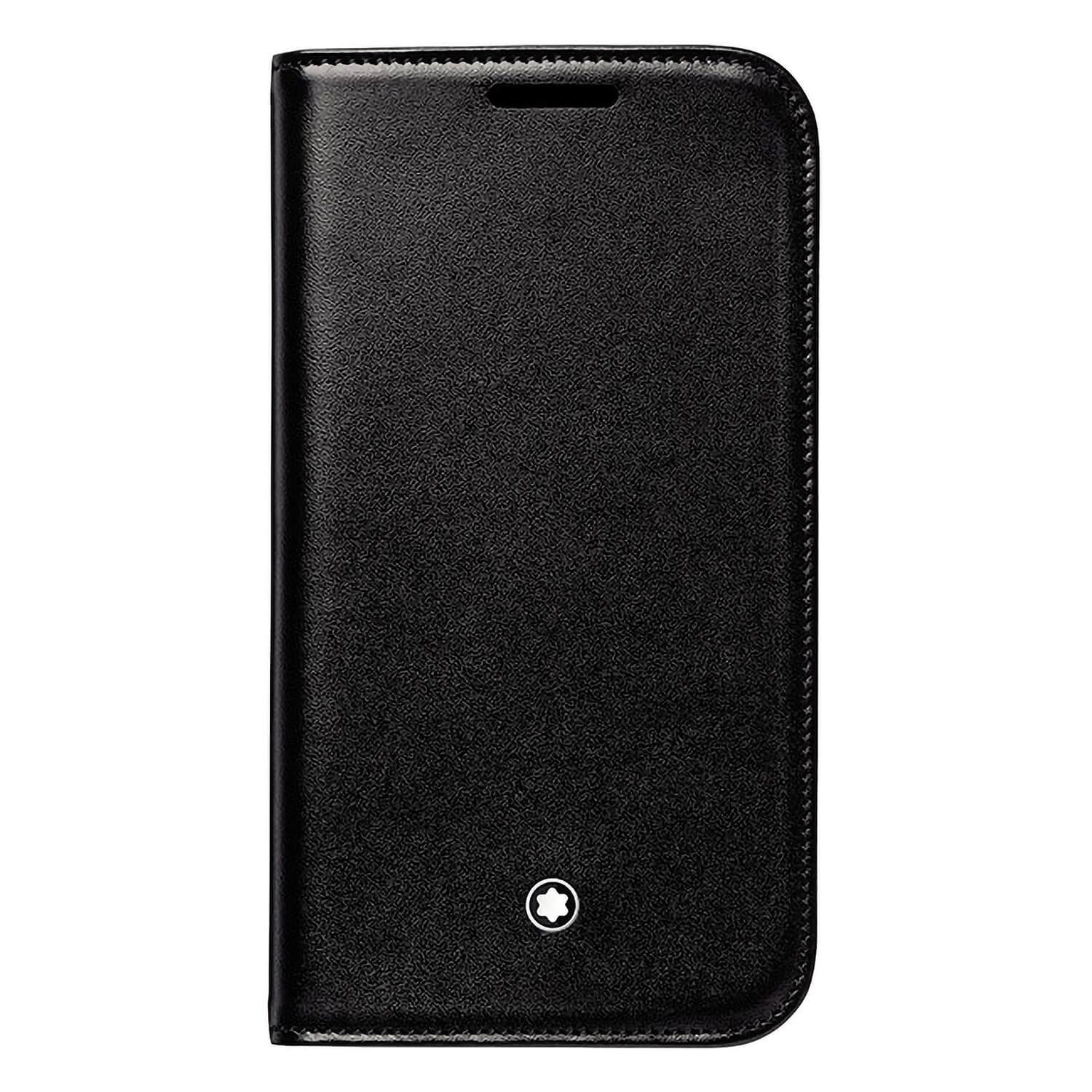 Montblanc Meisterstuck Samsung Galaxy 4 black leather mobile phone case