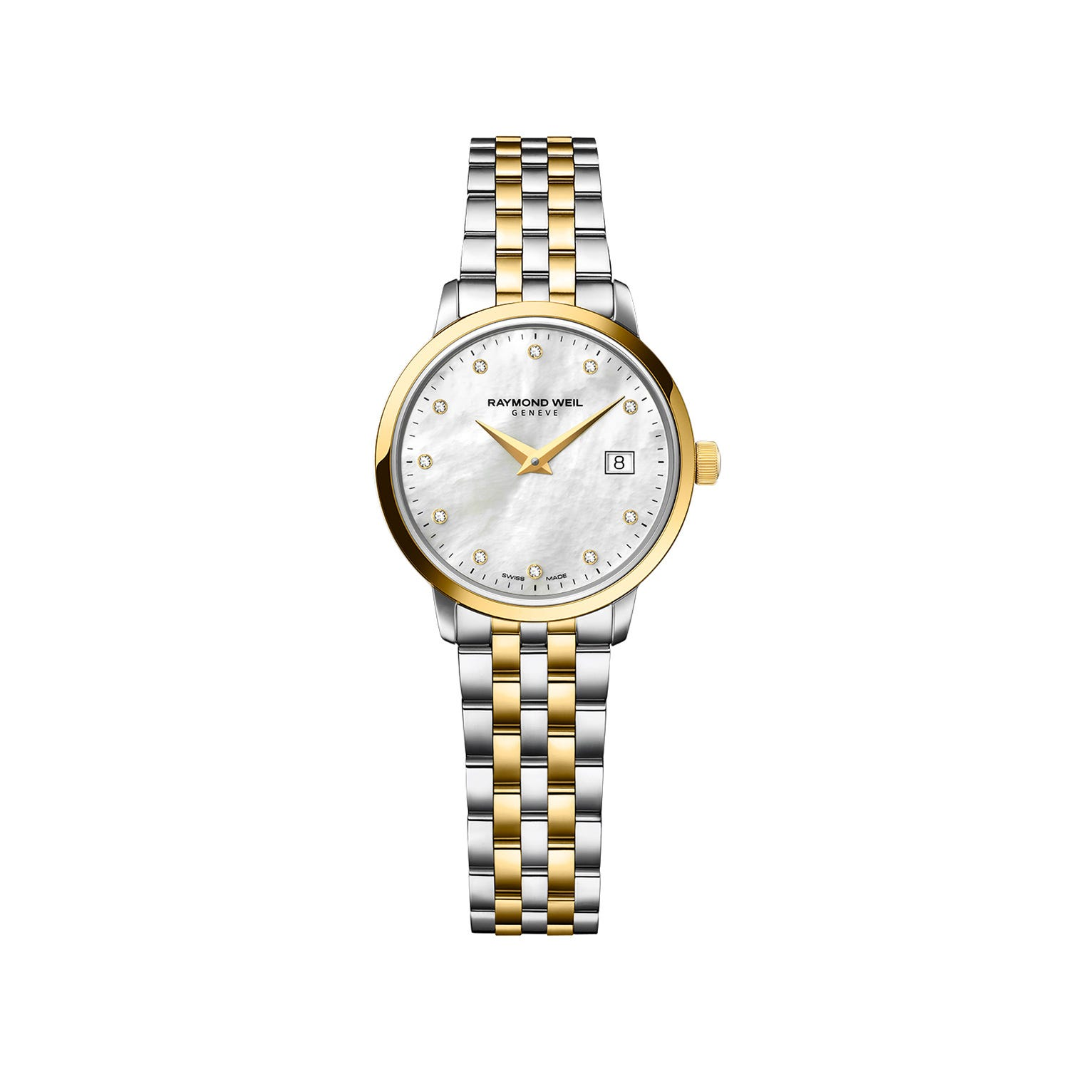 Raymond Weil Traditional ladies' diamond dot dial stainless steel bracelet watch