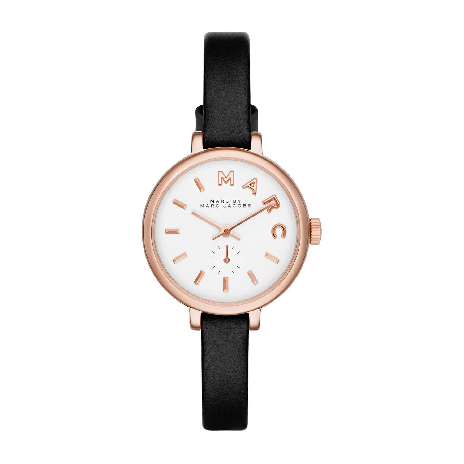 Marc Jacobs Sally ladies' white dial black strap watch