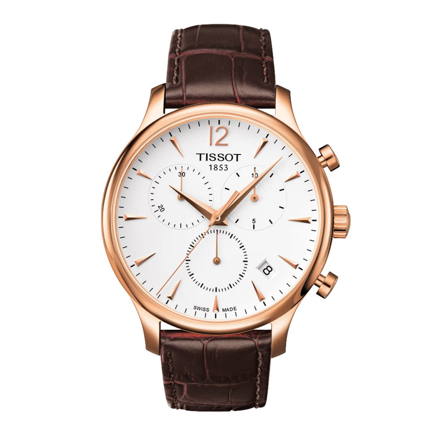 Tissot Tradition Men's Brown Leather Strap Chronograph Watch