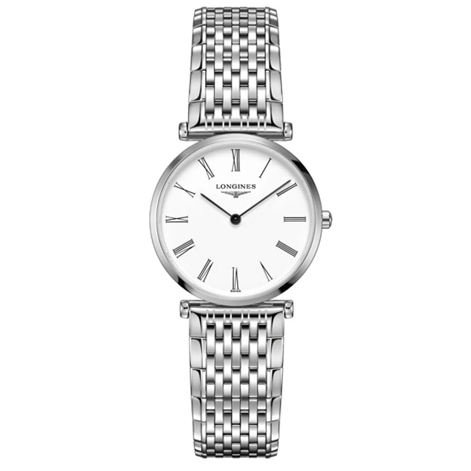 Longines La Grande Classique Tonneau ladies' stainless steel bracelet watch