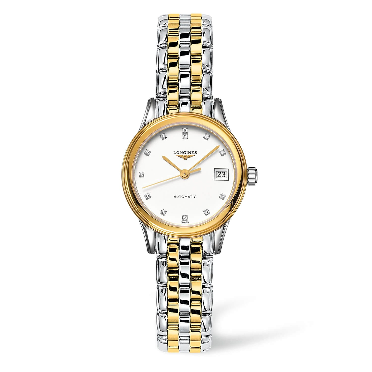 Longines Flagship ladies' two-tone diamond-set automatic watch