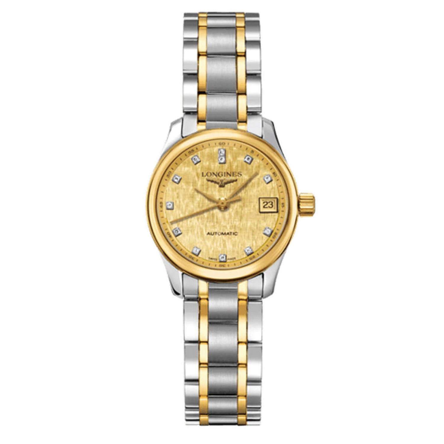 Longines Master Collection ladies' automatic stone set two colour bracelet watch