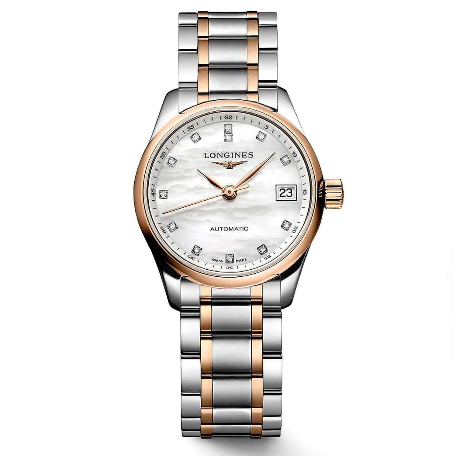Longines Master Collection 18ct Rose Gold & Diamond 25mm Ladies' Watch
