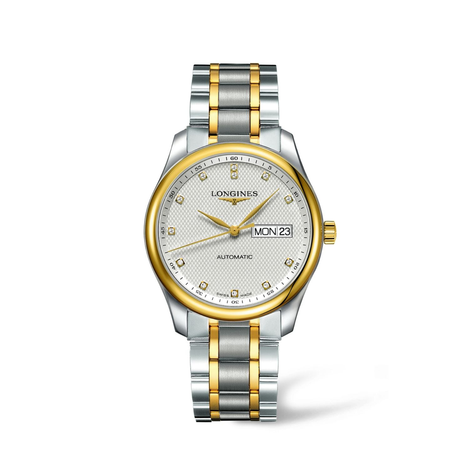 Longines Master Silver Dial Automatic Two Tone Case Bracelet Watch