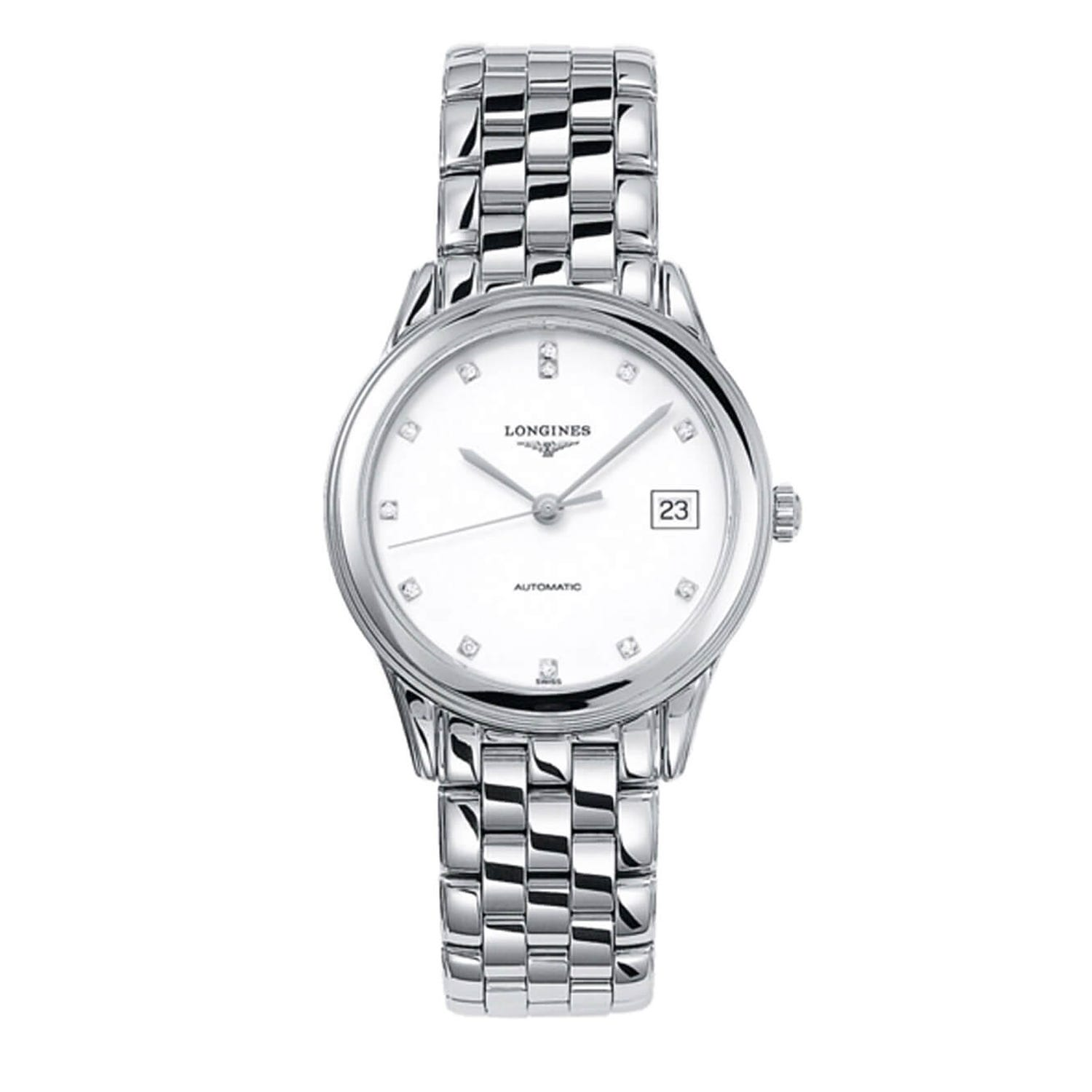 Longines Flagship automatic diamond-set dial stainless steel bracelet watch