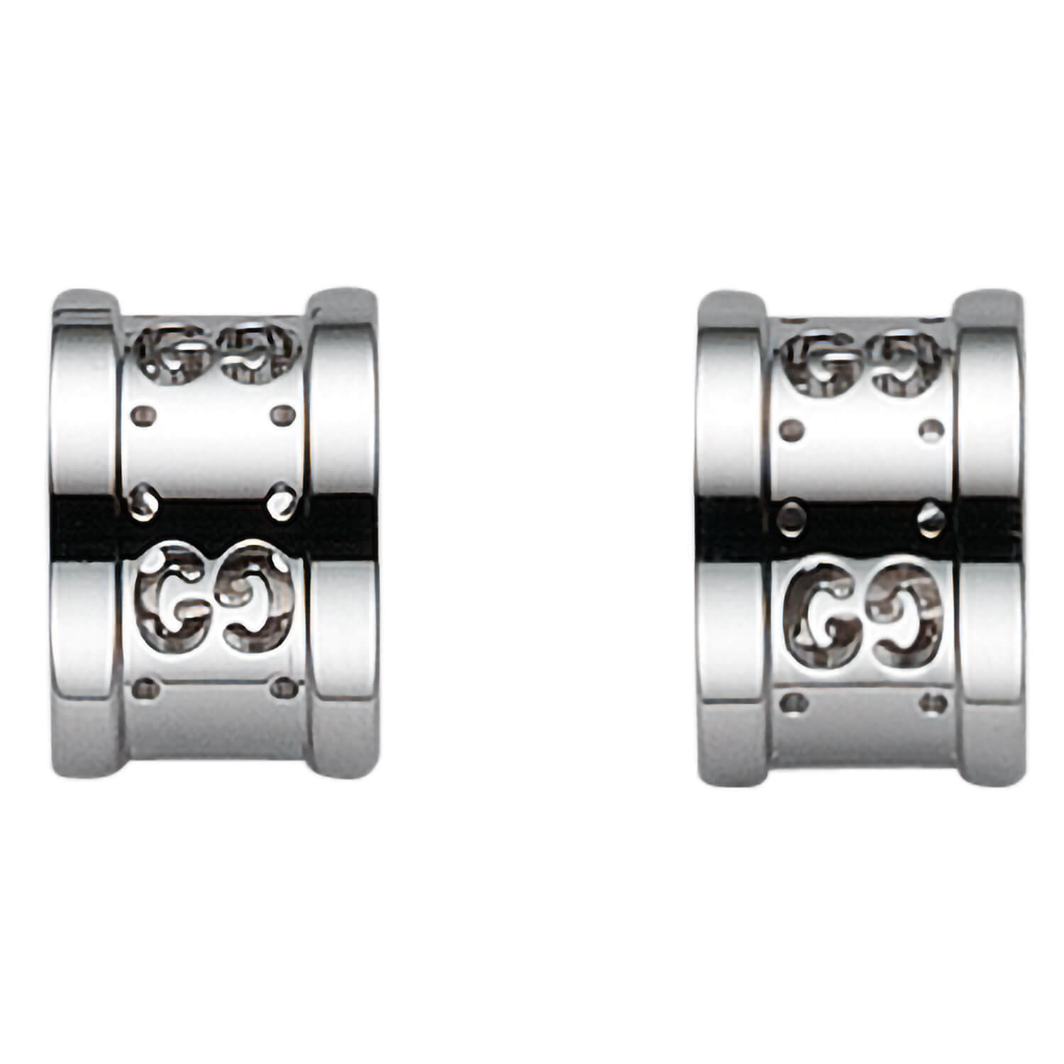 Gucci Icon Twirl 18ct white gold earrings