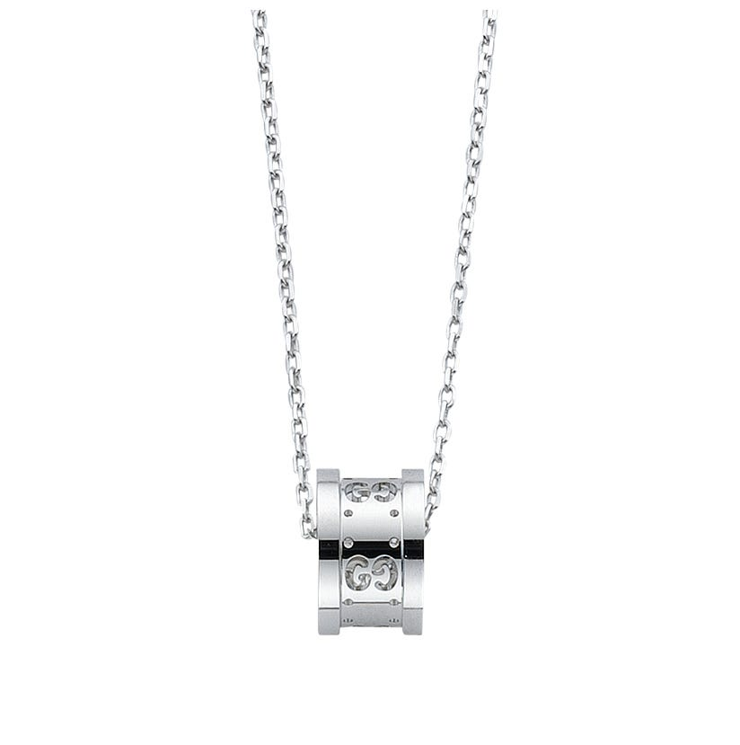 Gucci Icon Twirl 18ct white gold pendant