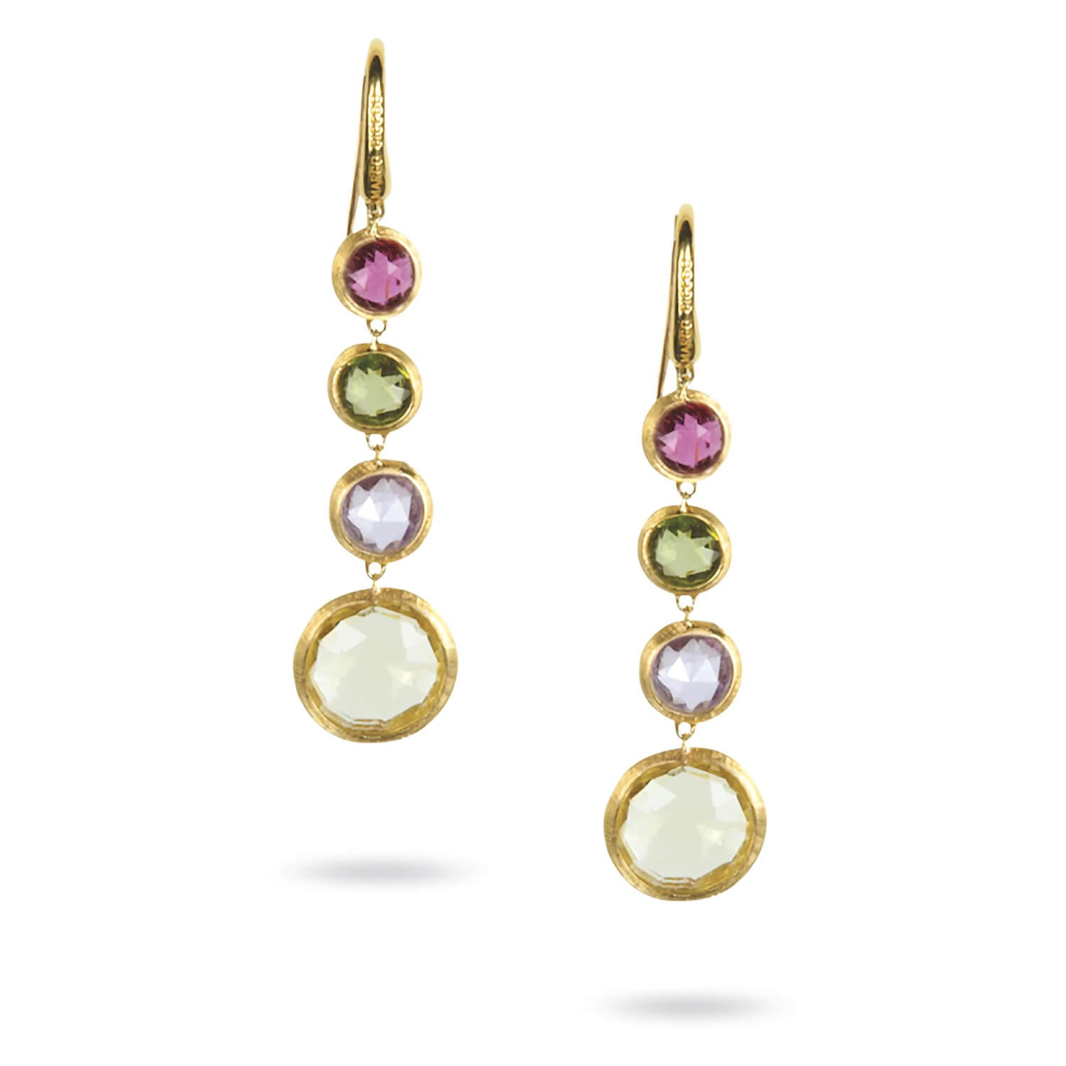Marco Bicego Jaipur 18ct gold mixed gem earrings