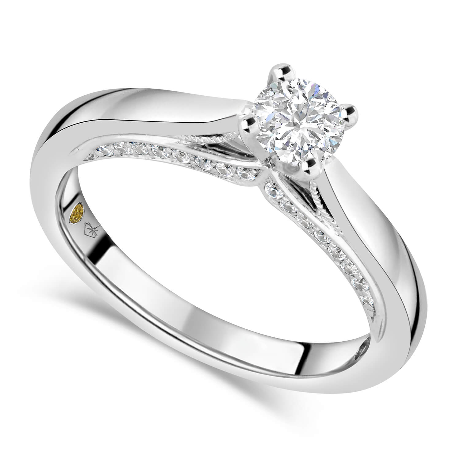 Northern Star 0.55ct Diamond 18ct White Gold Sides Ring