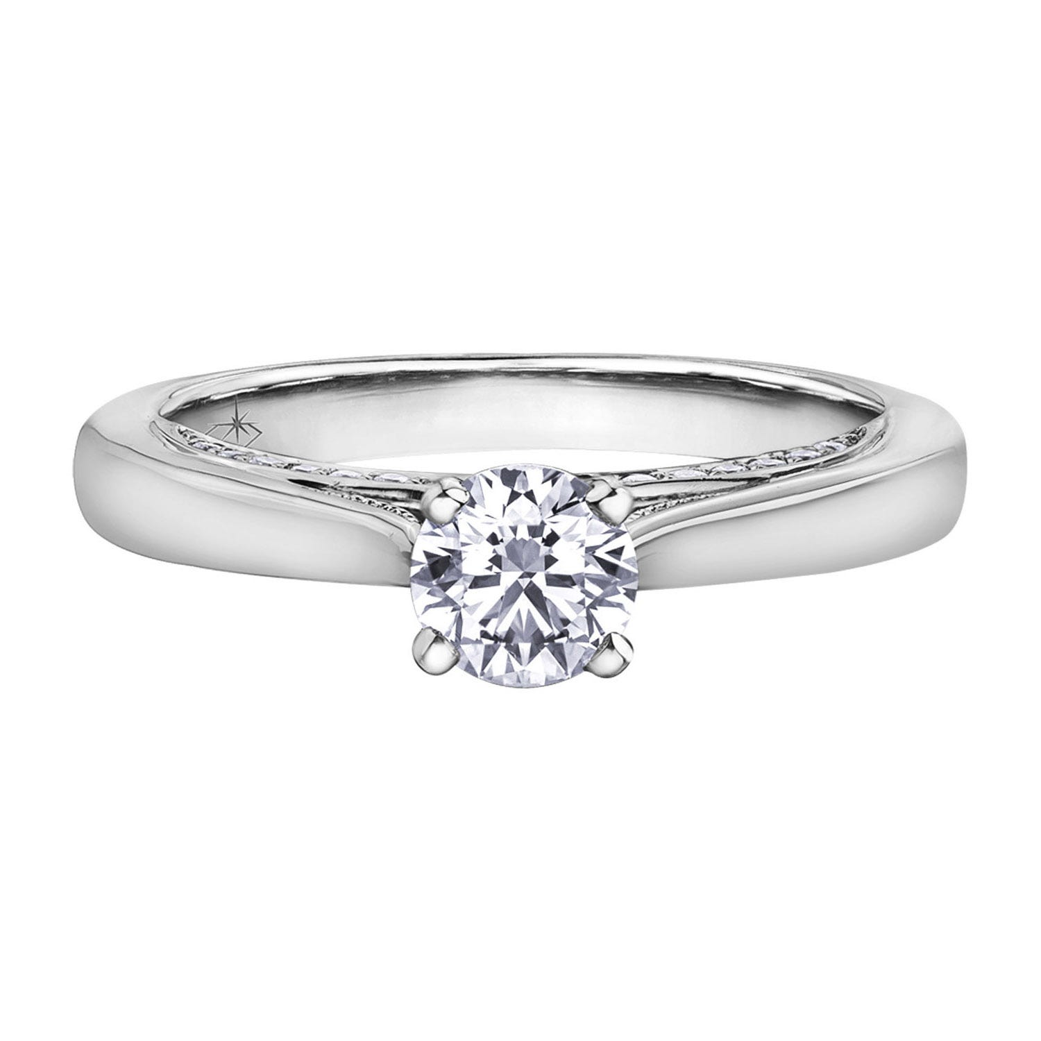 Northern Star 0.65ct Diamond 18ct White Gold Sides Ring