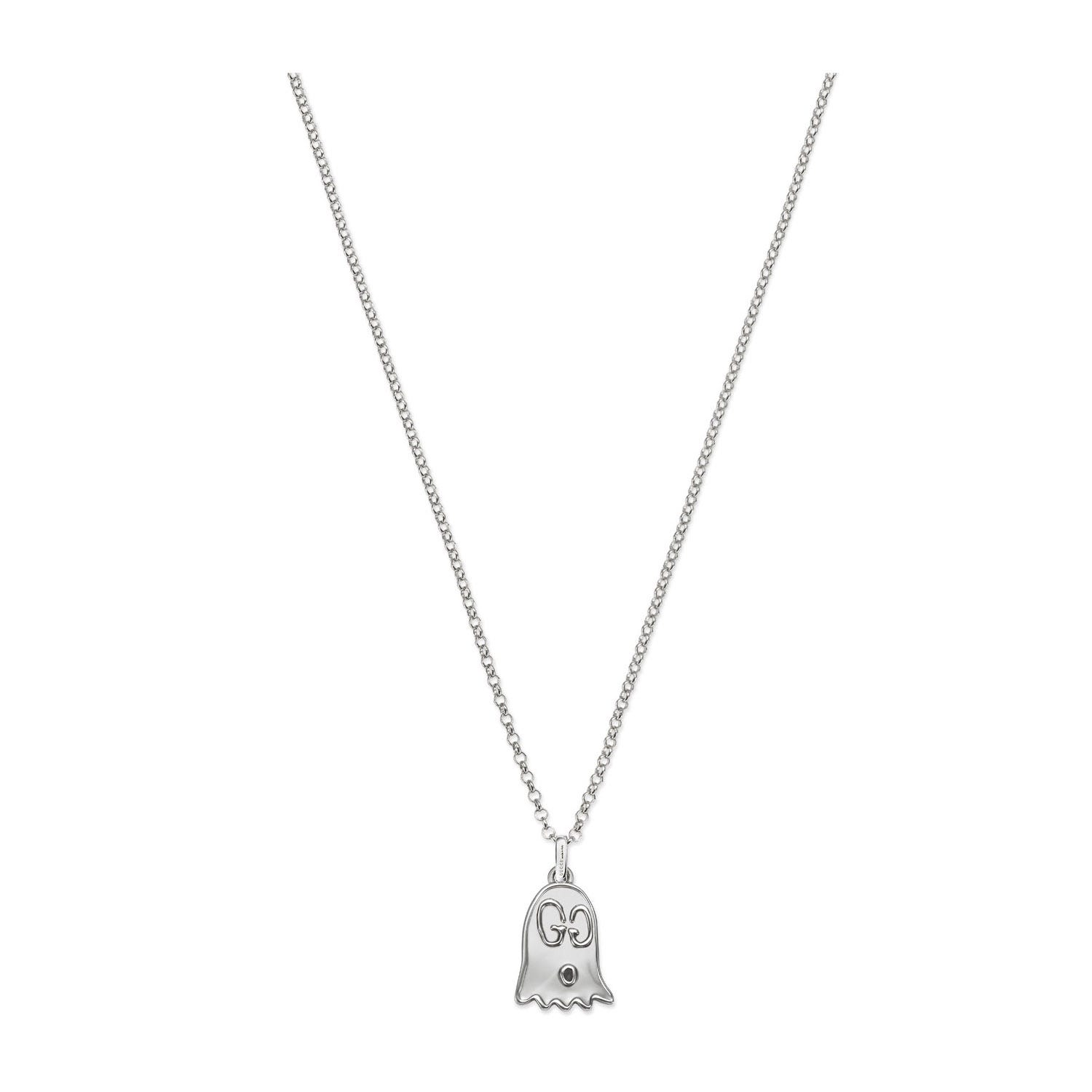 Gucci Ghost Silver Phantom Pendant with Chain