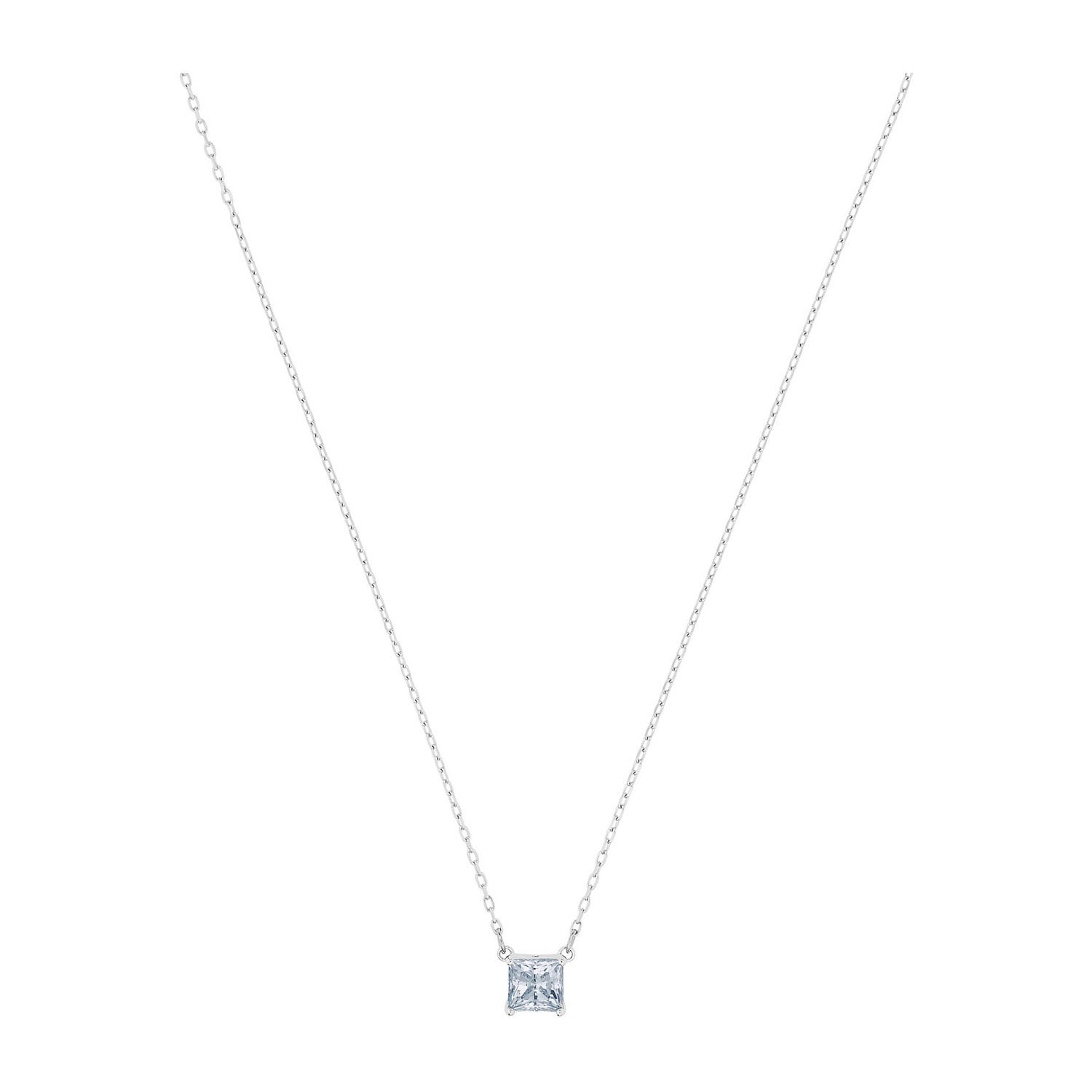 Swarovski Attract Collection Rhodium Plated White Necklace